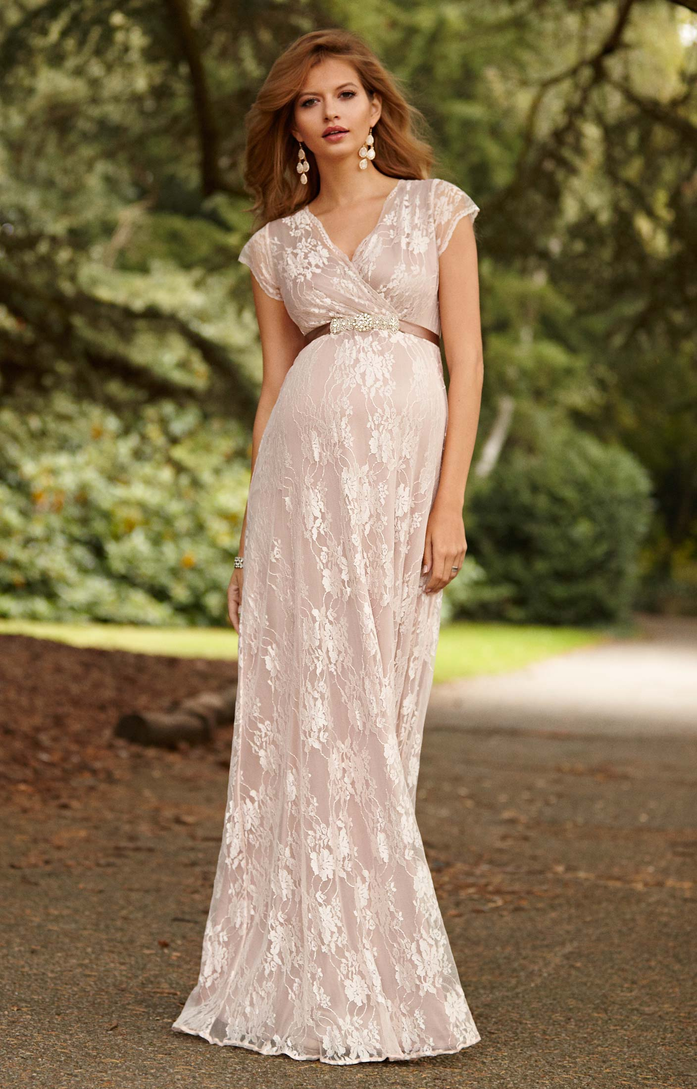2434f06554d93 Eden Maternity Gown Long Blush - Maternity Wedding Dresses, Evening Wear  and Party Clothes by Tiffany Rose.