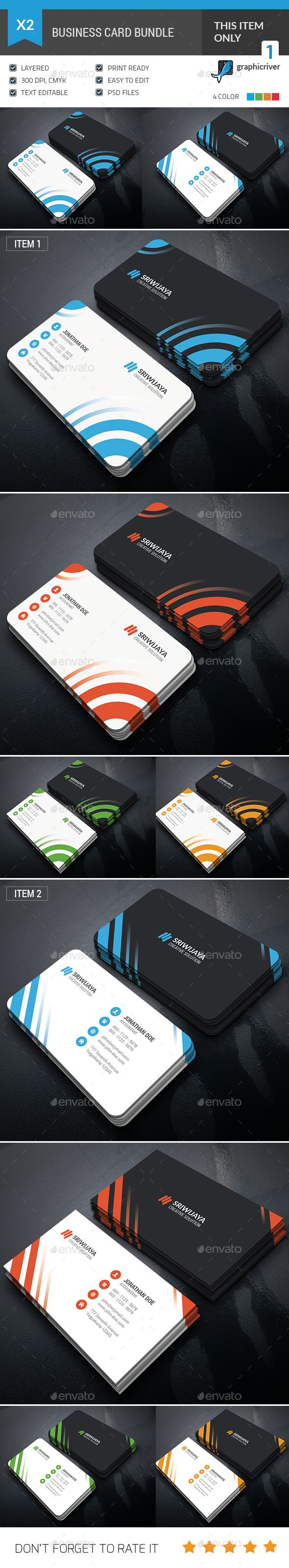 Business Card Bundle | Business cards, Photoshop and Business