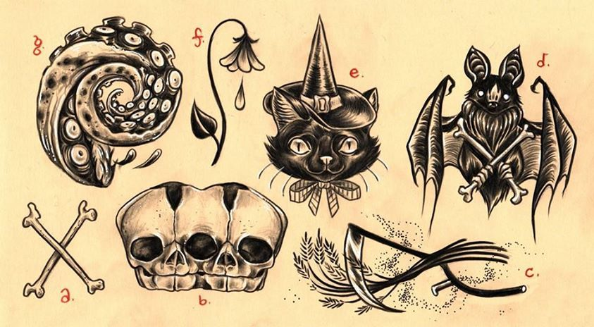 Alison Woodward Illustration Doodles Tattoos