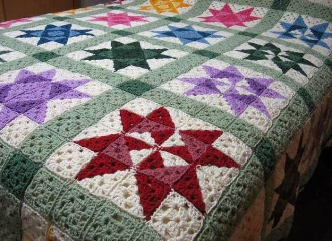 [Easy]Crochet Quilt Afghan Pattern | 1001 Crochet Ideas ...