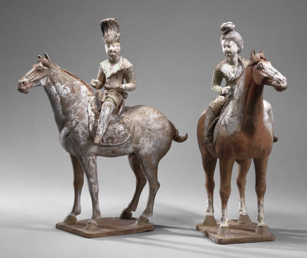 Equestrian Male From The Tomb Sculpture Set Two Equestrian Figures One Male With A Tall Elaborately Embellish Art History Best Art Books Harvard Art Museum