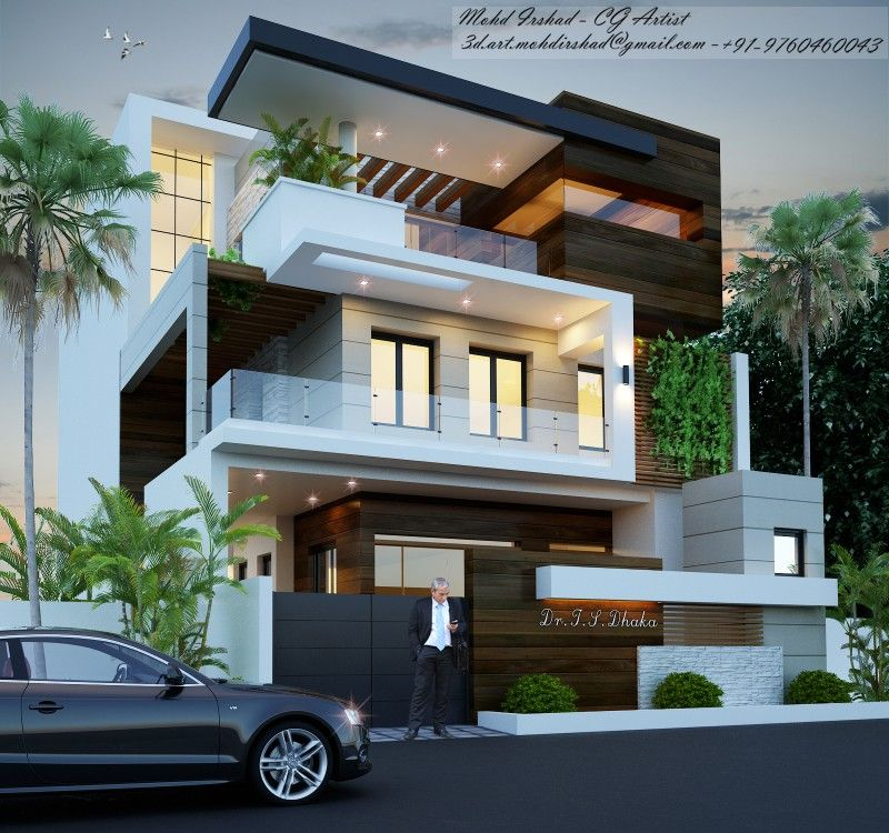 Pin By Sheo Ratan On 3d Art Architectural Visualization Modern Exterior House Designs Small House Plans Modern Design Bungalow House Design