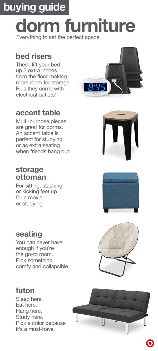 comfy chairs for dorms. Furniture Shopping For Your College Dorm Room? Awesome! If You\u0027re Not Too Sure About What To Get, Here Are A Few Space Savers That Make Sense: Bed Risers, Comfy Chairs Dorms L