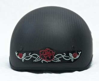 Rose Rhinestone motorcycle helmet bling Patch Red blue or purple LADIES we have helmet bling!!!