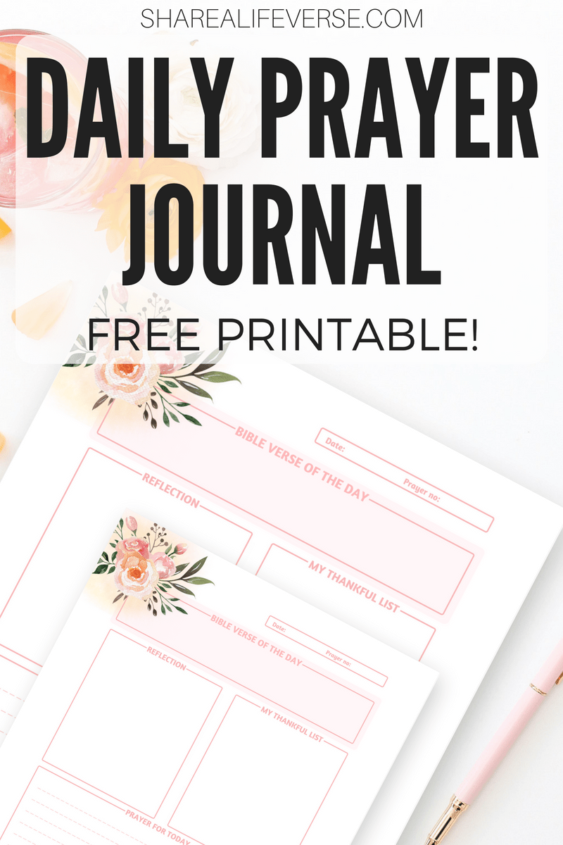 Free Daily Prayer Journal Printable Page! - Cute Freebies For You
