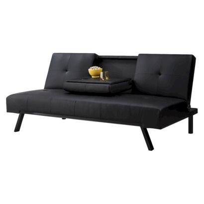 Wynn Cupholder Sofa Bed In Brown Or Black Target Tiny House
