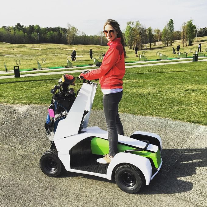 Caruca A Single Rider Electric Golf Scooter Cart Golf Carts Golf Buggy Golf Trolley