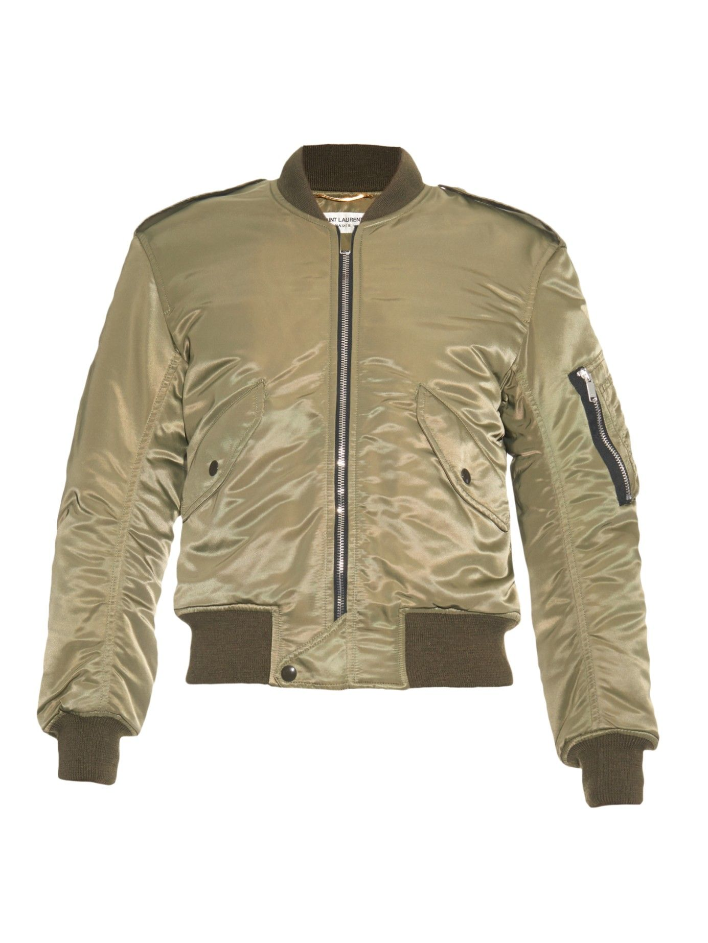 Patch-pocket aviator jacket   Saint Laurent   MATCHESFASHION.COM US
