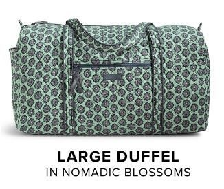 9e7fe8188723 Vera Bradley Large Duffel in Nomadic Blossoms. Available now for Summer  2016 at Rogers Jewelers