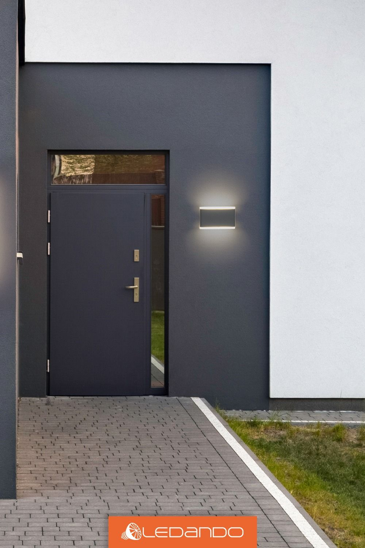 Hochwertige Graue Led Wandleuchte Updown 2 X 5w Ip54 Fur Den Innen Und Aussenbereich Grau An Aussenbeleuchtung Haus Aussenwandbeleuchtung Wandleuchte