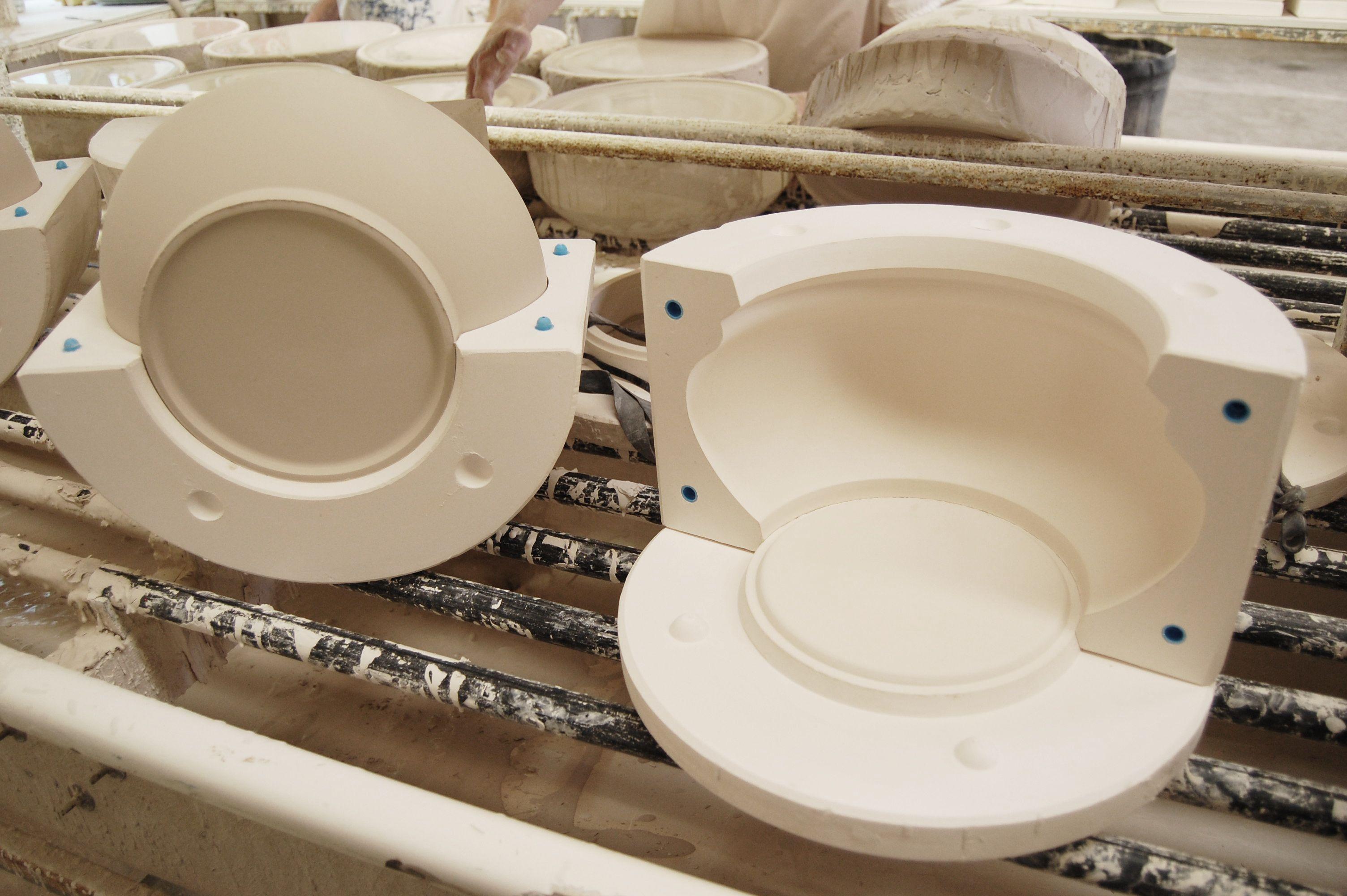 Demoulding A Slip Cast Plaster Molds Ceramic Molds Pottery Molds