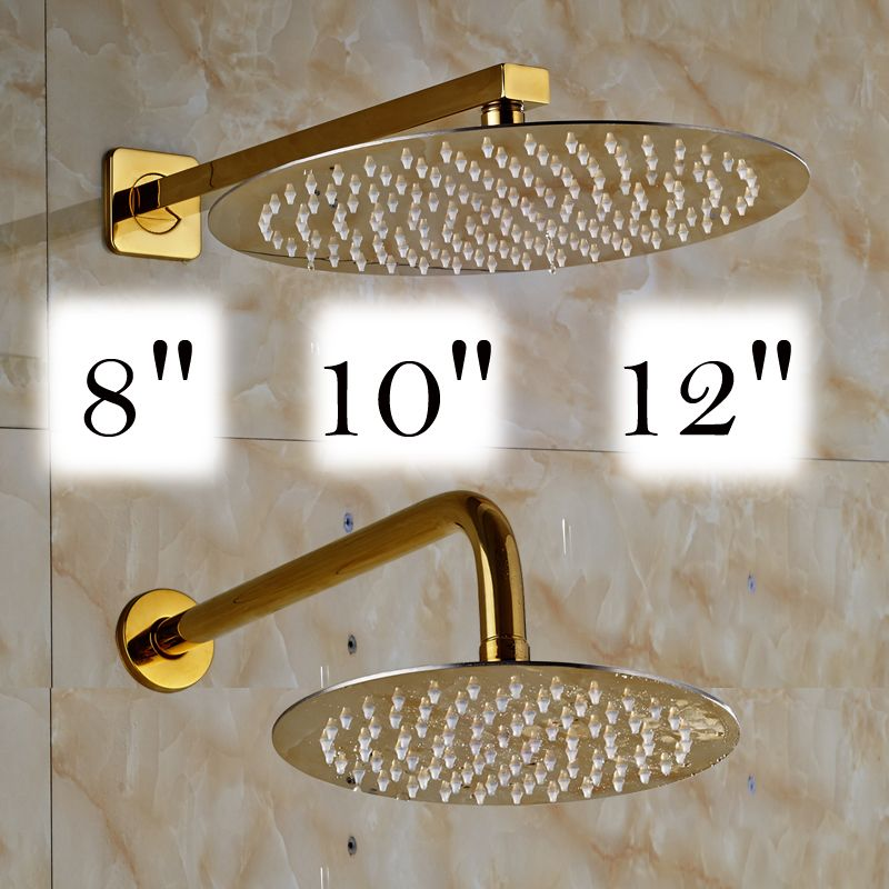 Free Shipping 8/10/12 inch Stainless Steel Rain Shower Head ...