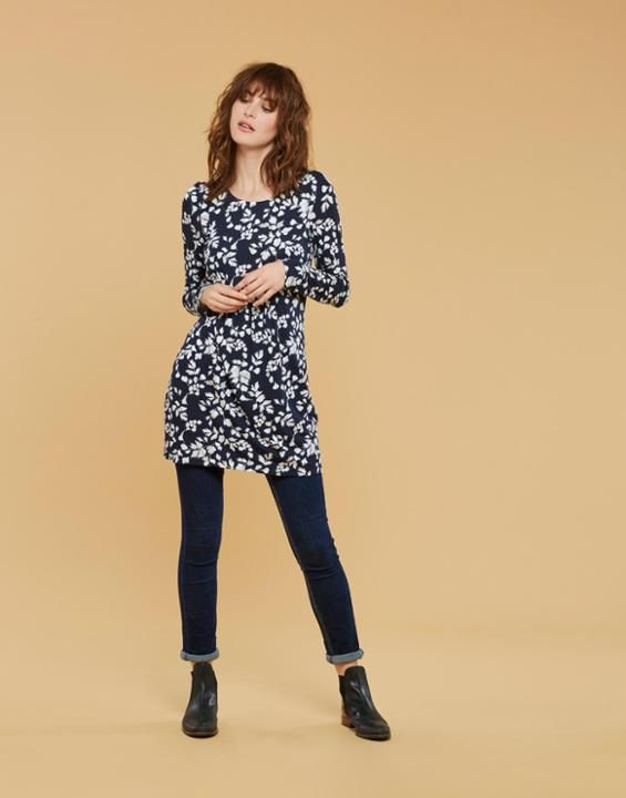 6ab51c8dc41 Joules Kirsten Womens Printed Jersey Tunic Joules Uk, Stripes, Tunic,  Leggings, Clothes