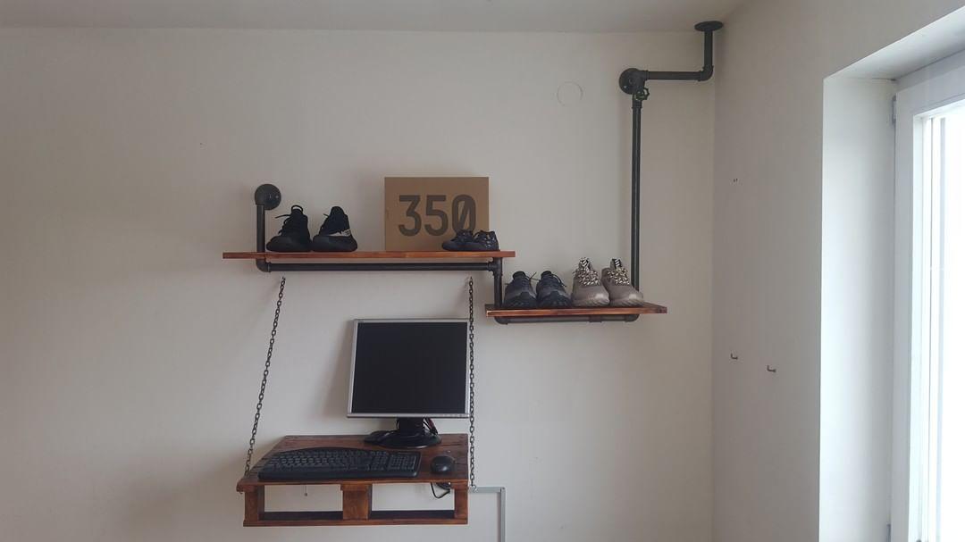 Wandregal Mit Schreibtisch C C Schad Rohre Und Fittings Von Iltubo De Diy Shop Home Home Decor Shelves