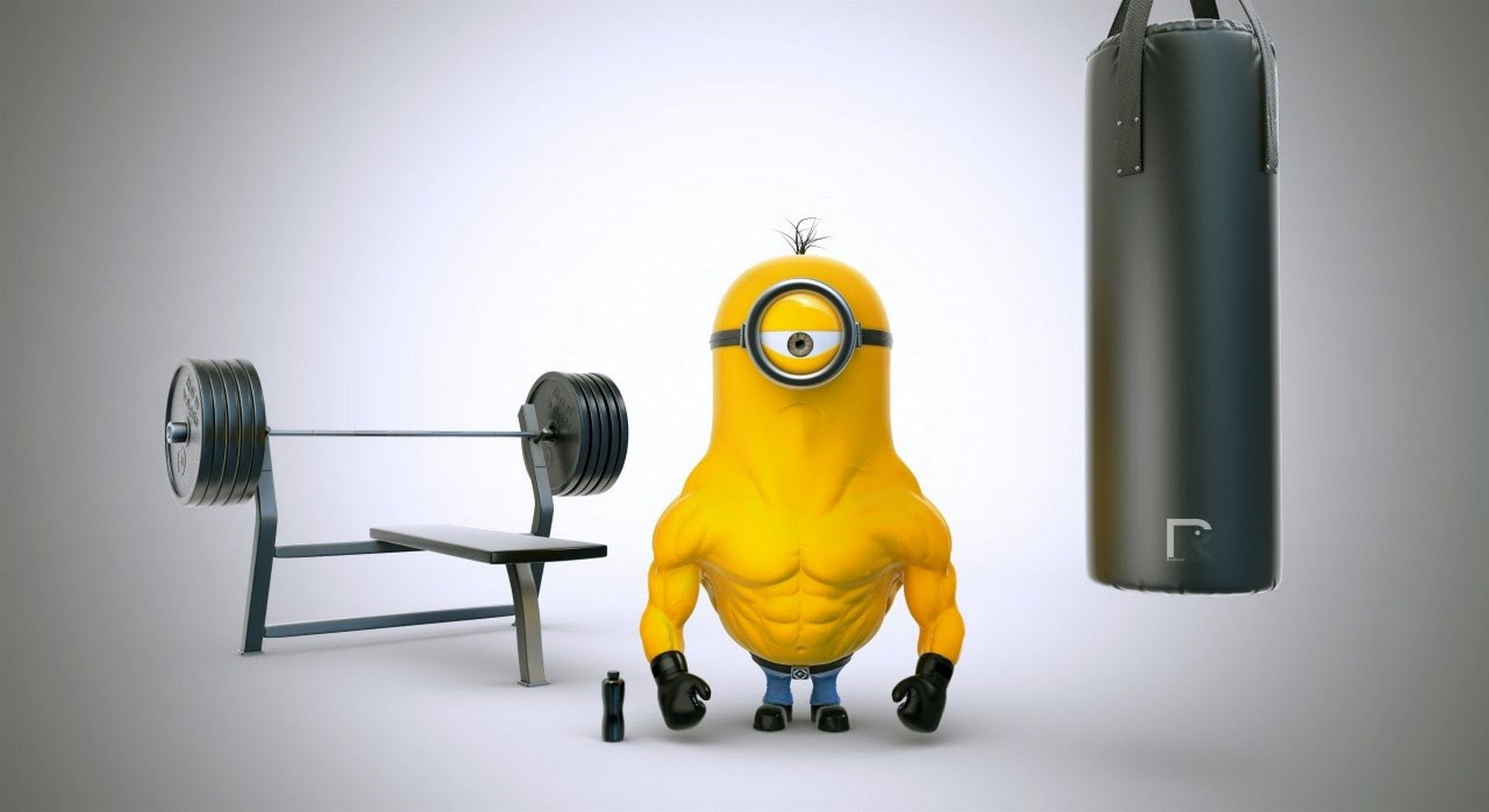 Nice Minion Tough Guy In The Buff! Find This Pin And More On Despicable Me 3  Wallpapers Hd ...