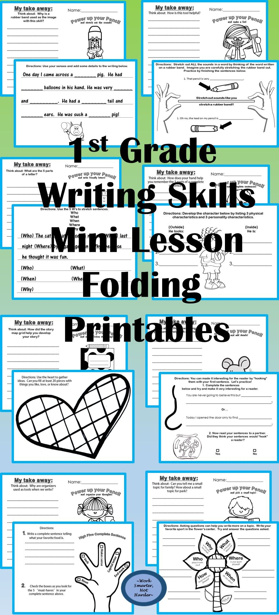 First Grade Writing Mini Lesson Printables | Back to School PreK-3 ...