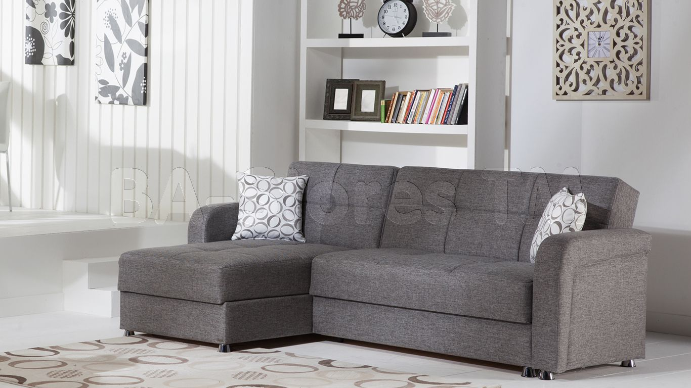 Vision sectional sofa in diego gray by istikbal sectional sofa by