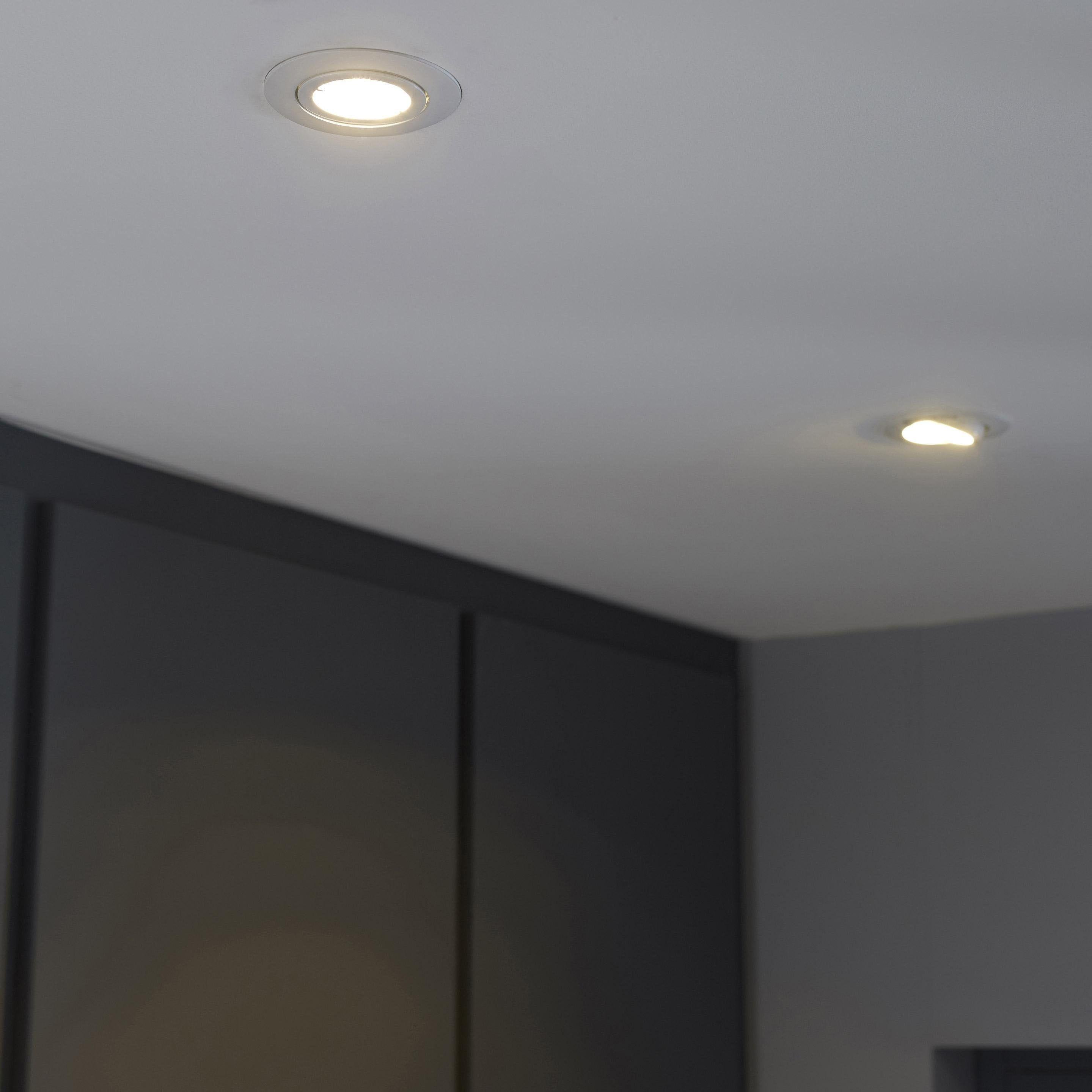 Kit 3 Spots A Encastrer Orientable Bama Led Inspire Gu10 4 Positions Rond Blanc Plafond Salle De Bain Eclairage Led Plafond Led Plafond
