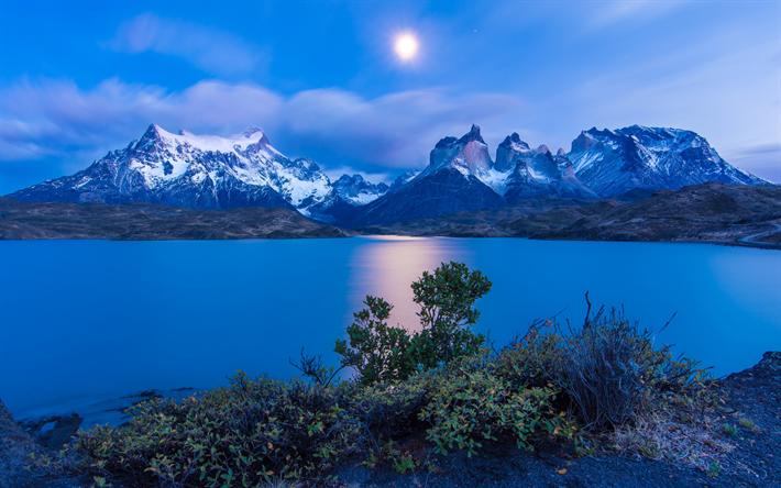 3d 4k Fbb Wallpaper Download Wallpapers Pehoe Lake Night Moon Mountain