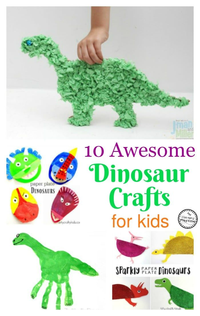 10 Awesome Dinosaur Crafts for Kids - Planning Playtime  sc 1 st  Pinterest & 10 Awesome Dinosaur Crafts for Kids | Dinosaur crafts Craft and ...