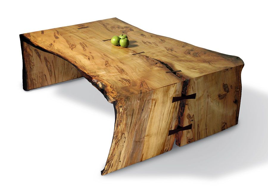 We love the look of this coffee table do you like we can for Wood slab coffee table