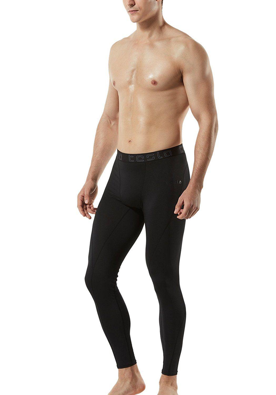 483f05236acc5 Amazon.com : Tesla Men's Compression Pants Baselayer Cool Dry Sports Tights  Leggings MUP19 /