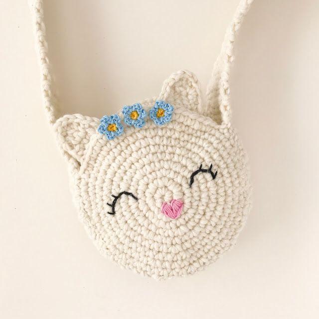 Photo of Un patrón de ganchillo para una bolsa de gato dulce de azúcar