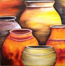Resultado De Imagen Para Vasija Para Colorear Pintura De Jarrones Pinturas Abstractas Pinturas