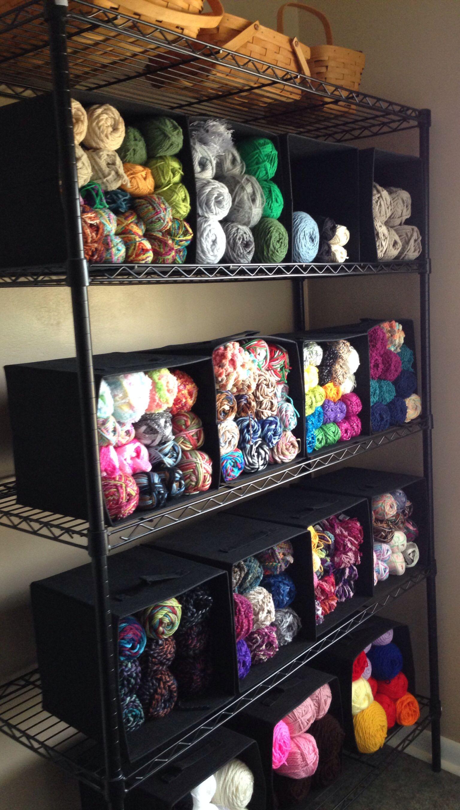 My Yarn Shelves Love It Knitting Room Craft Room