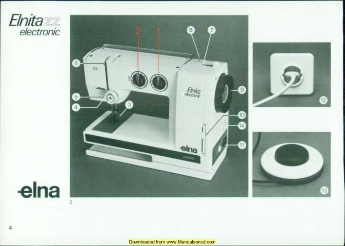 Elna Elnita Electronic ZZ Sewing Machine Manual Sewing Machine Best Sewing Machine Repair Norman Ok