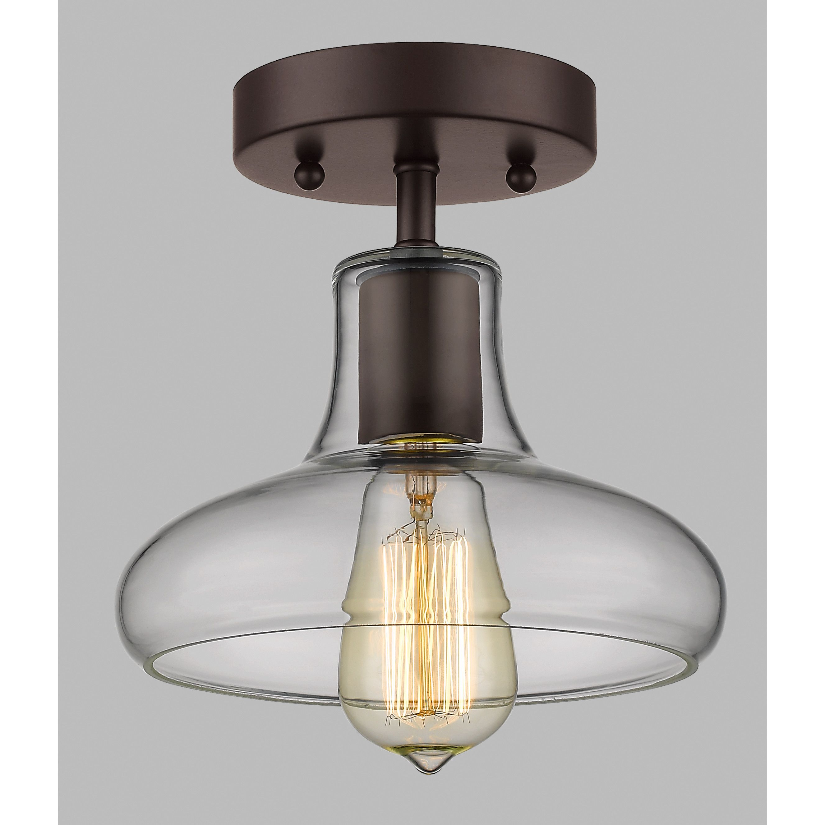 Chloe Lighting Ironclad 1 Light Semi Flush Mount | * HEIMBOLD ...