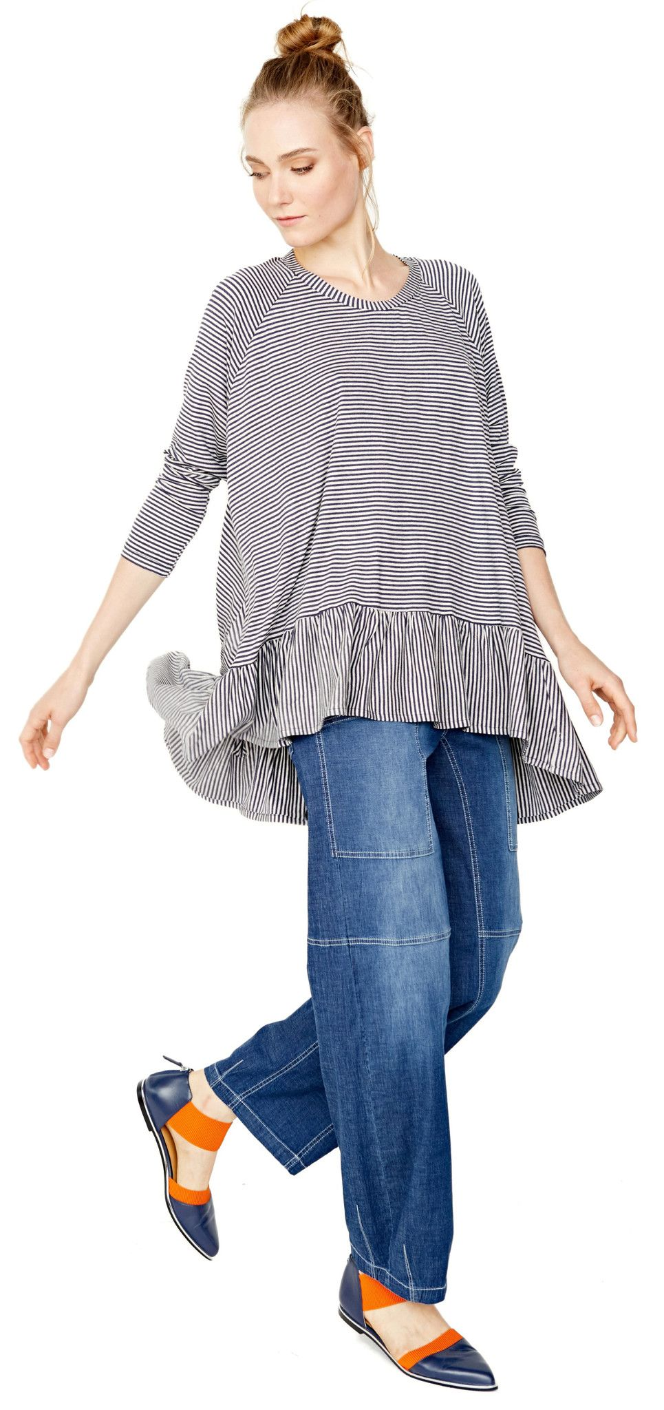 33a875e2310 Alembika tunic top shown with denim pant