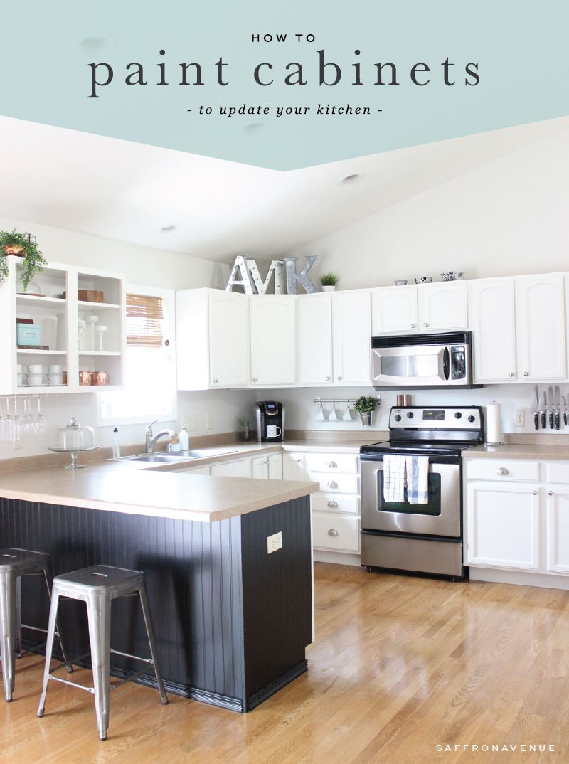 how to paint cabinets to update your kitchen from the saffron rh co pinterest com