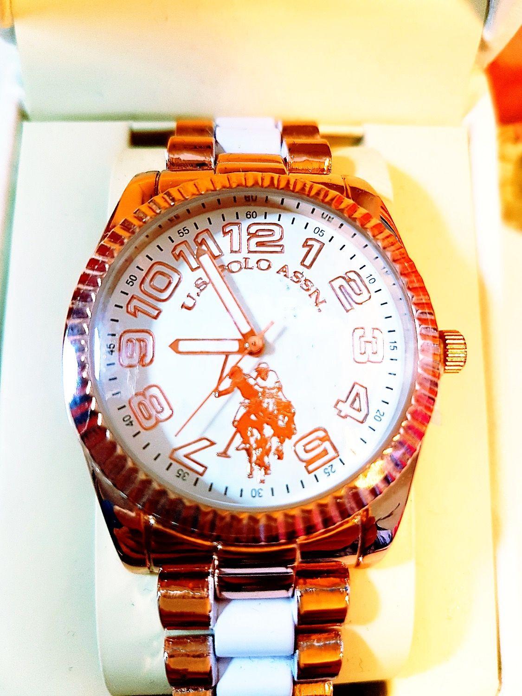 Reloj U.S. POLO ASSN   U.S. POLO ASSN   Reloj, Polo blanco y