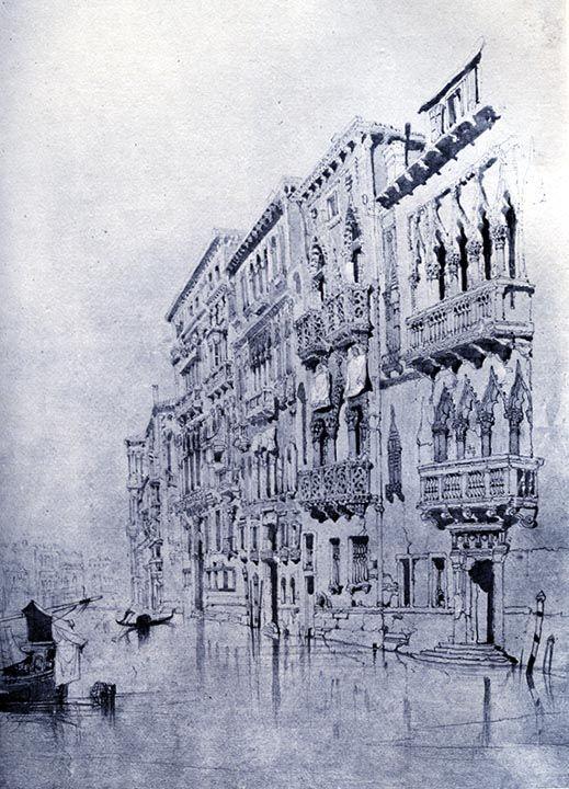 Casa Contarini Fasan, Venice (1841) by John Ruskin