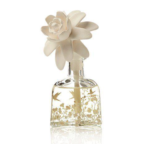 Scentaments Flower Top Diffuser Set Lush Gardenia Flower Tops