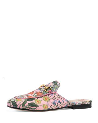 3a6d5eac769 Gucci leather mule in New Flora print. 0.5