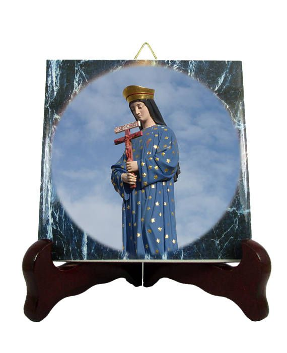 #Religious gifts - Our Lady of #Pontmain - #catholic icon on tile - Our Lady of #Hope - #Virgin #Mary icon http://etsy.me/2rE8gsK