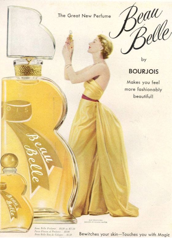 Beau Belle Parfum Bourjois 1949 Bourjois Art Pinterest