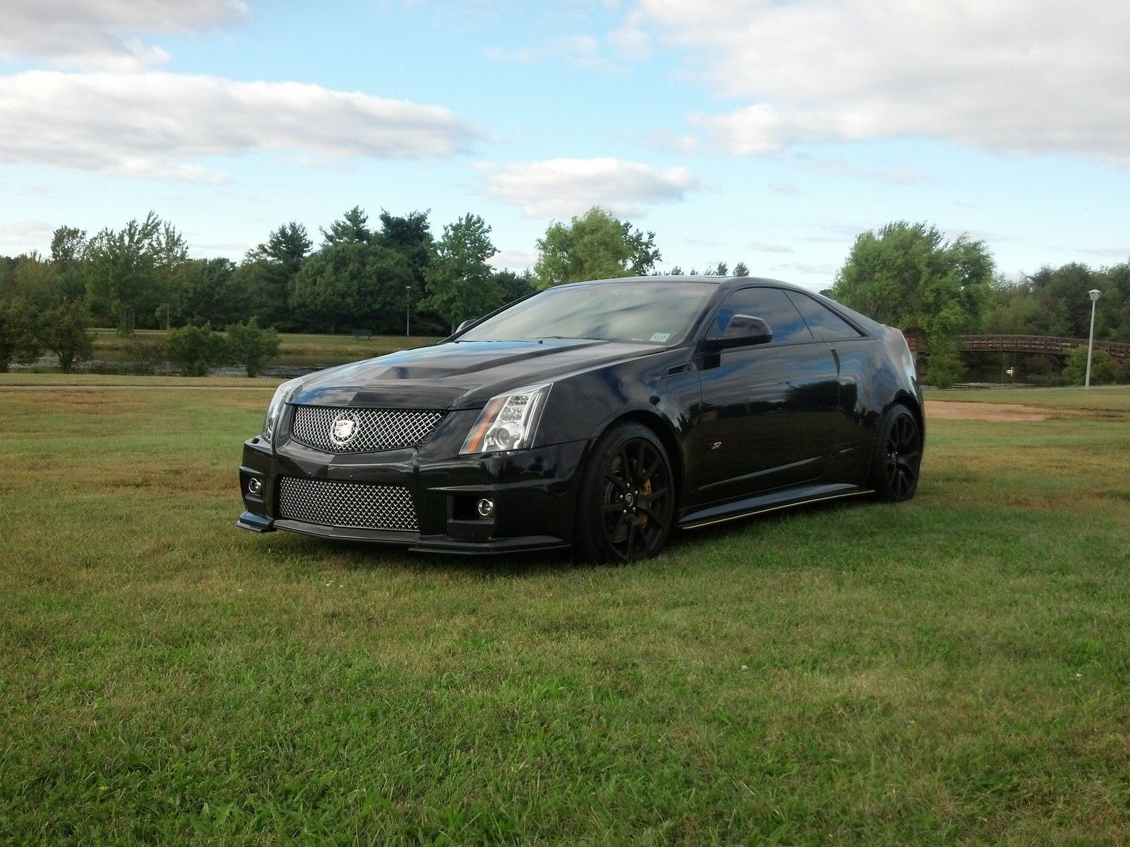 2012 black diamond cadillac cts v coupe picture mods upgrades