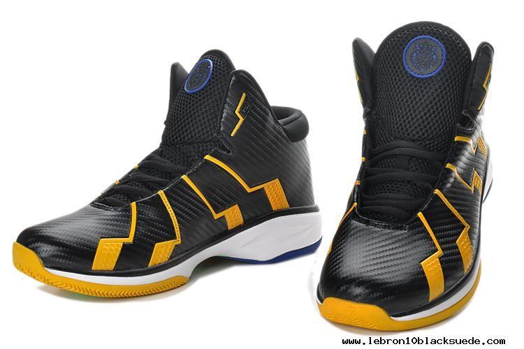 sports shoes 5e8ab 7f64a Nike Zoom Lebron 10.8 Shoes-Black Yellow White Sale
