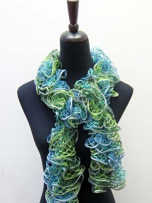 Free knitting pattern for this lovely scarf that uses one ball of ...