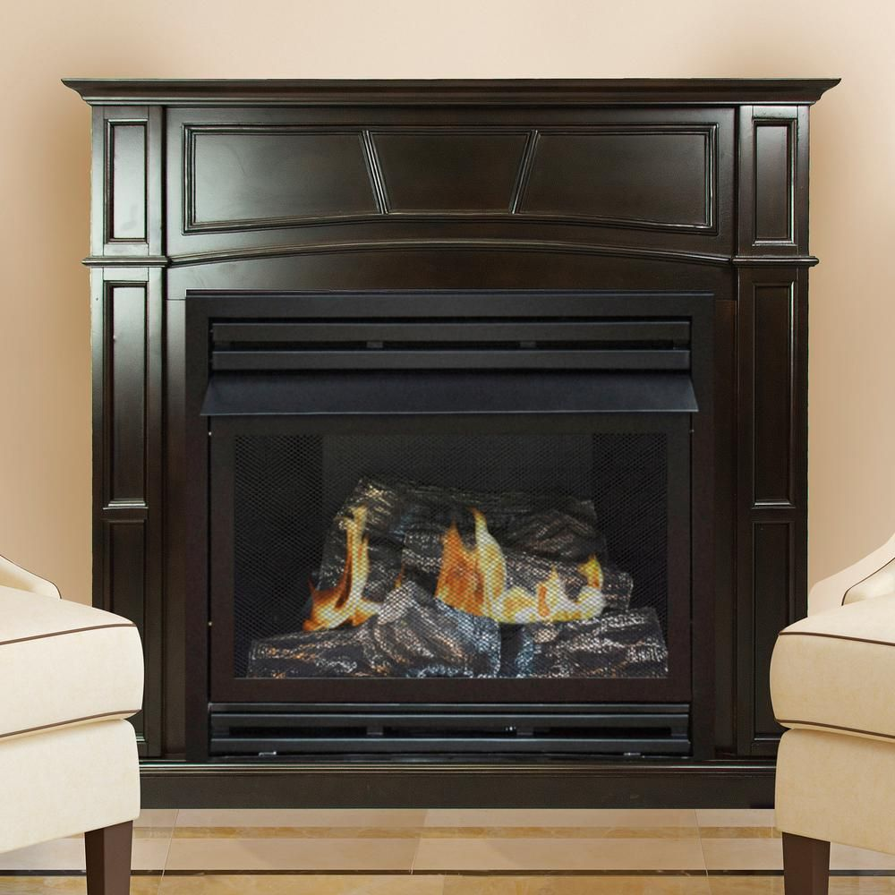 Pleasant Hearth 46 In Full Size Ventless Propane Gas Fireplace In