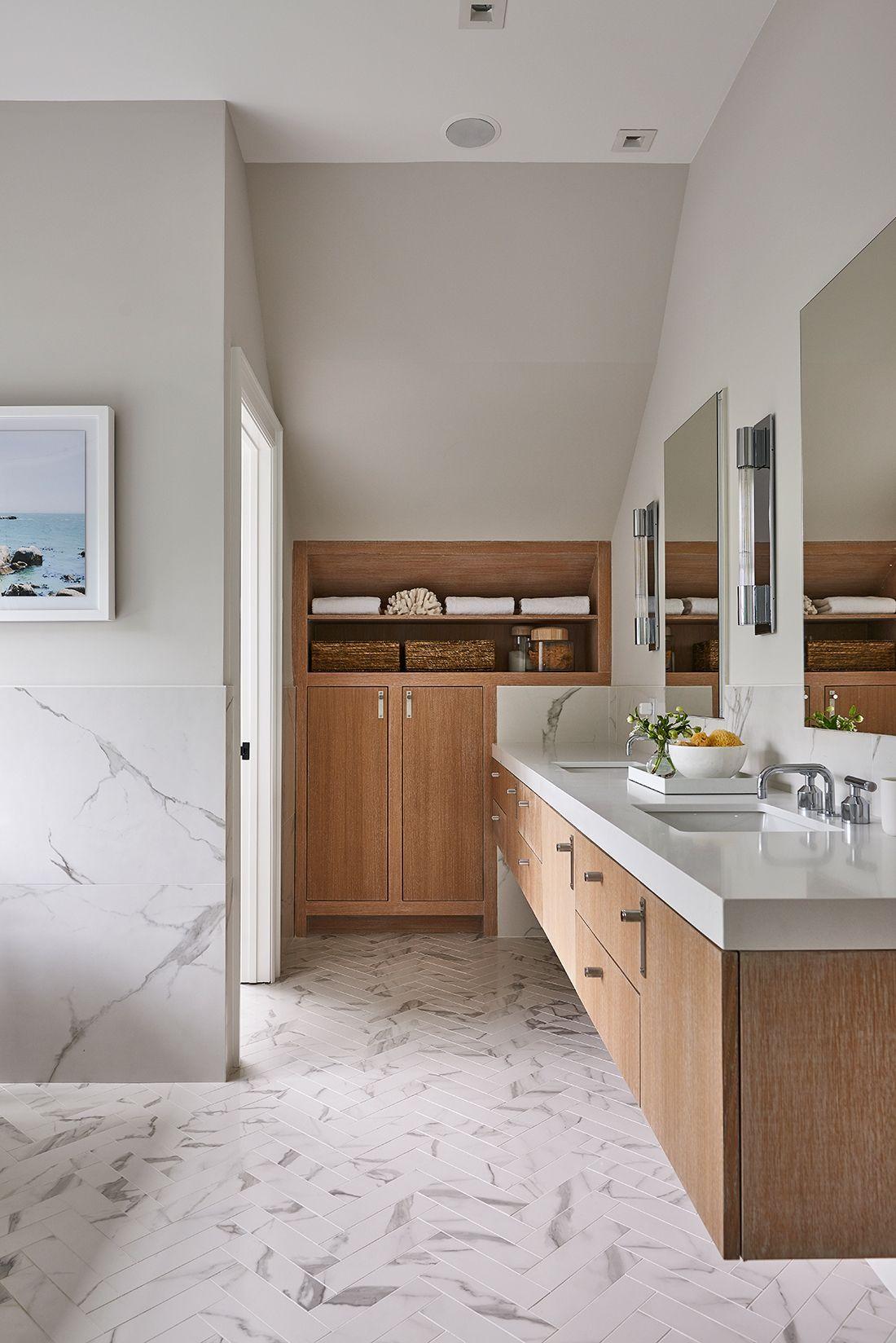 Airy Hamptons Home Marble Bathroom Designs Bathroom Design