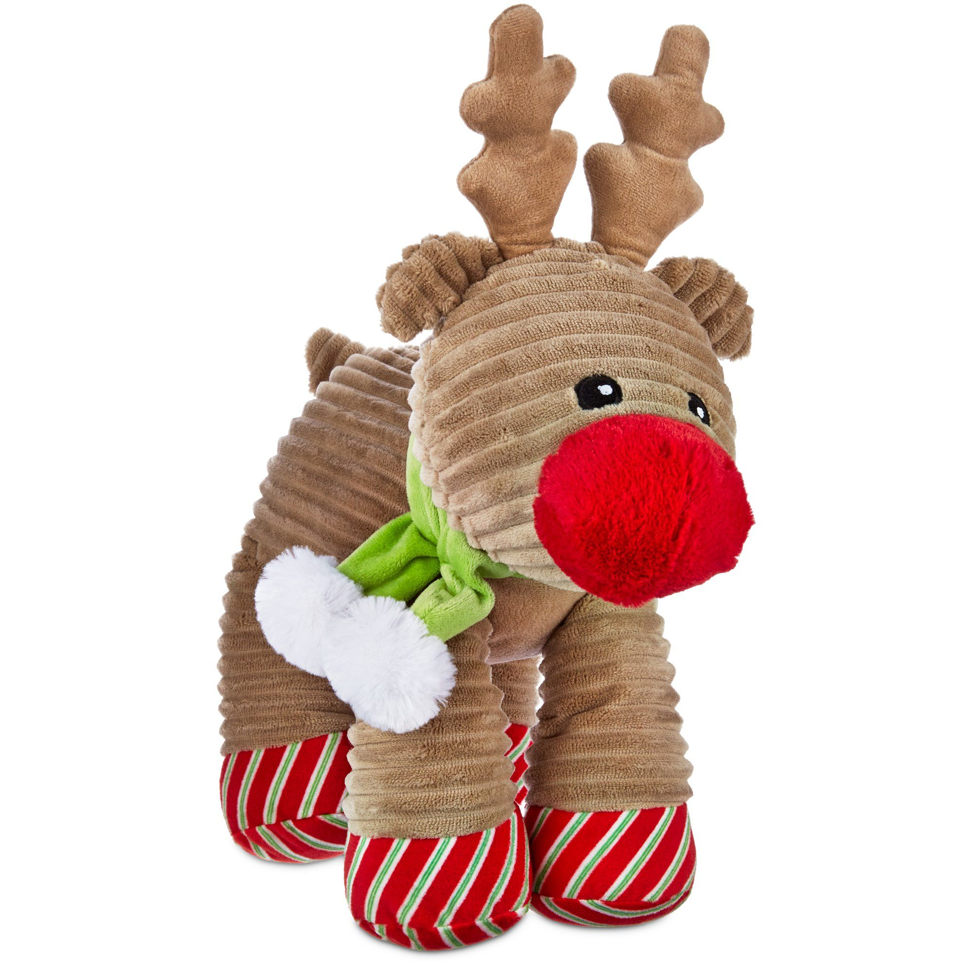 Watch your pup nuzzle up to the Time for Joy Plush Reindeer Dog