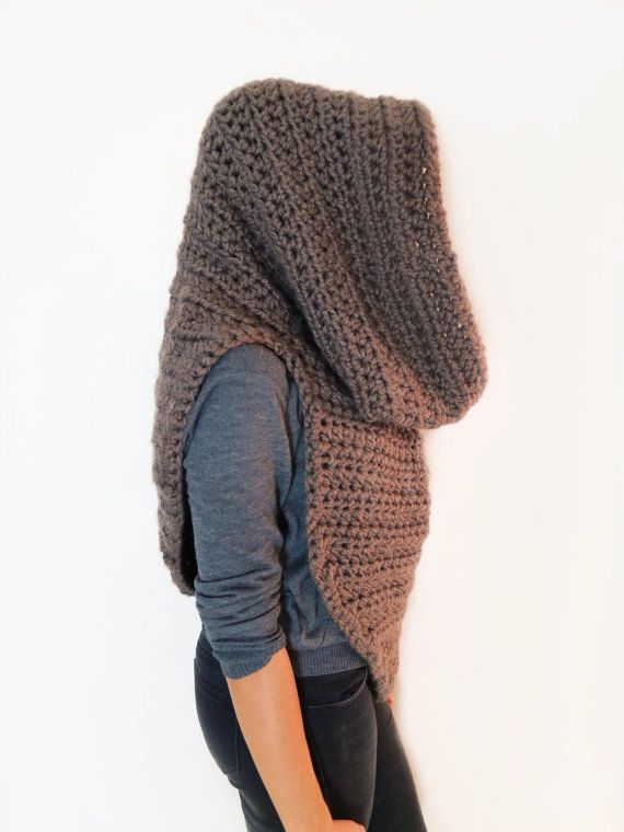 PATTERN for Chunky Soft Crochet Poncho, Scarf, Cowl, Hood All in One ...