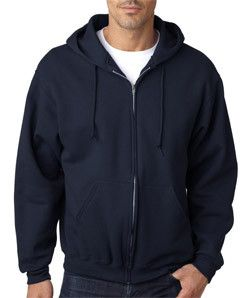 Jerzees Adult Super Sweats® Full-Zip Blended Hooded Sweatshirt 4999 J Navy