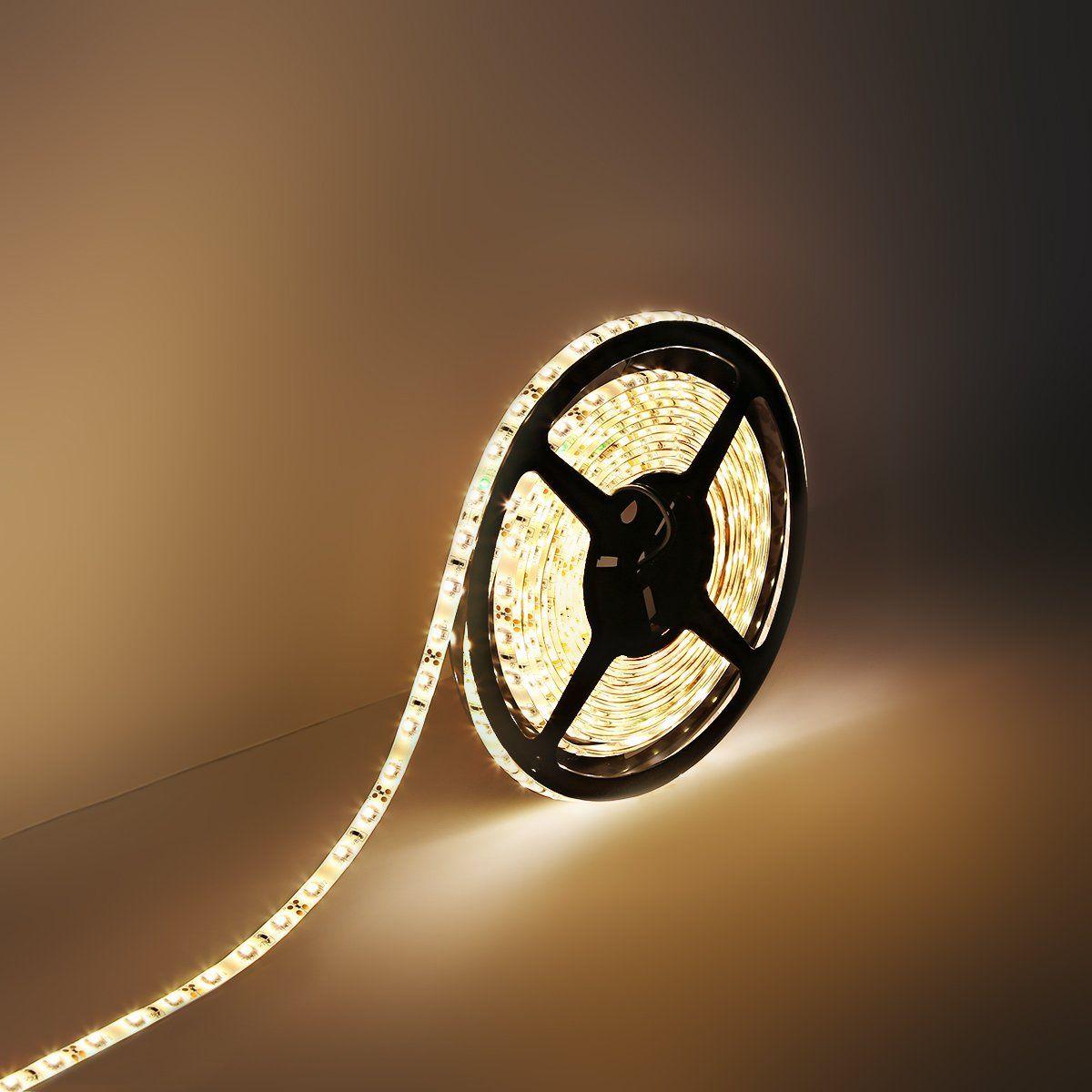 Le Lampux Flexibler Led Streifen 12v Dc 260lm Warmweiss Wasserdicht 300 Stuck 3528 Leds Lichtschlauch 5m In Jeder Led Lichtband Lichtleiste Led Streifen