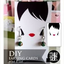 image result for free necklace and earring card template