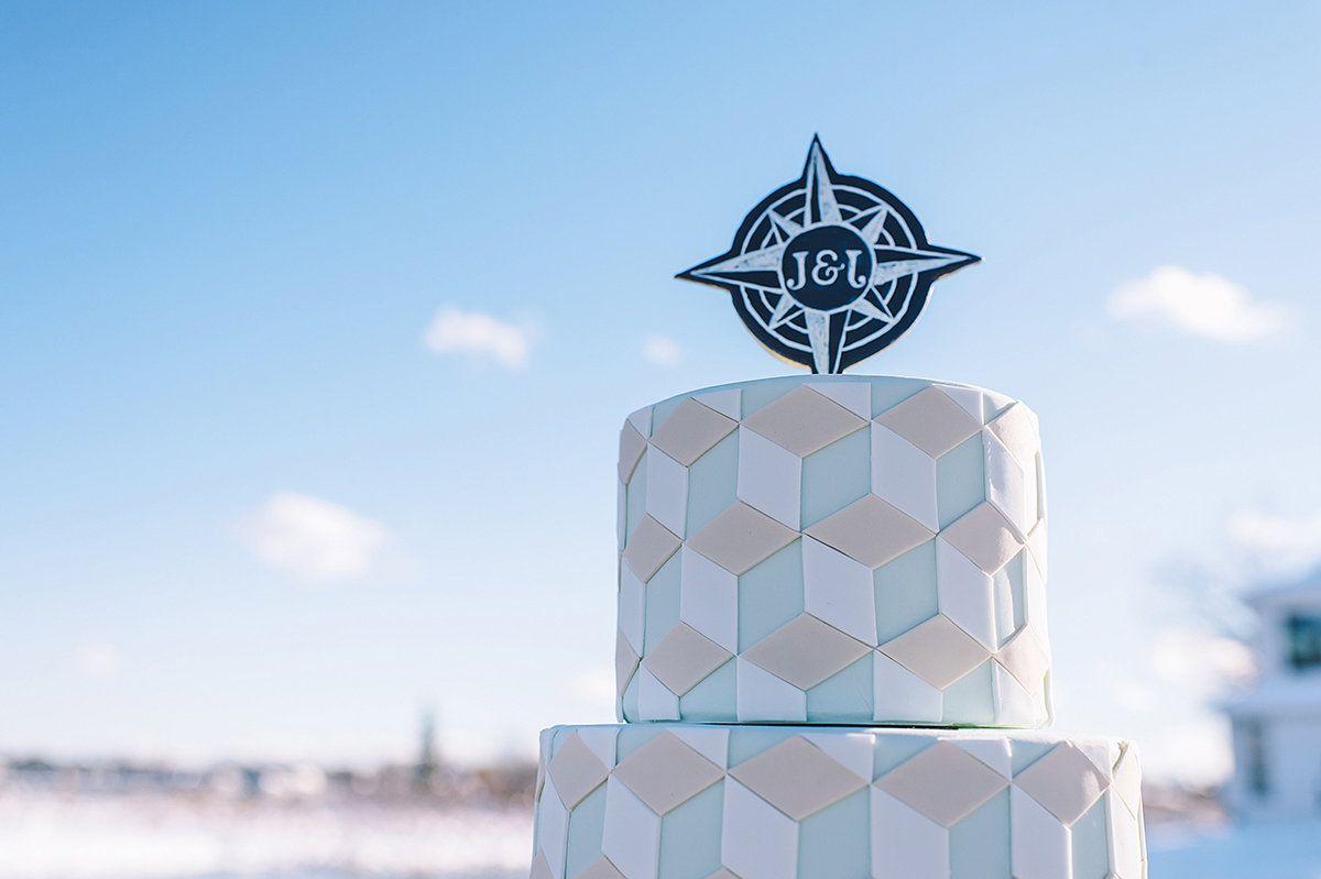 Voyage   Event   Winter Wedding   Michigan   Cake: Sweet Heather Anne   Event Design: Take A Seat Events   Photo: Amanda Dumouchelle Photography